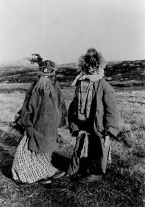 Children in Halloween costume, South Uist c. 1933:  Margaret Fay Shaw